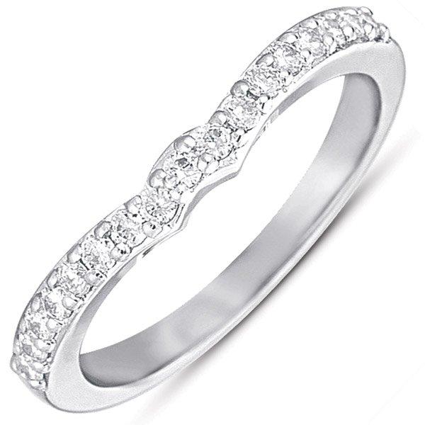 14W Contour Diamond Wedding Band .26tw