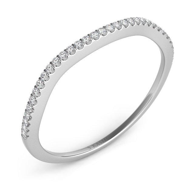 14W Curved Diamond Wedding Band .11tw