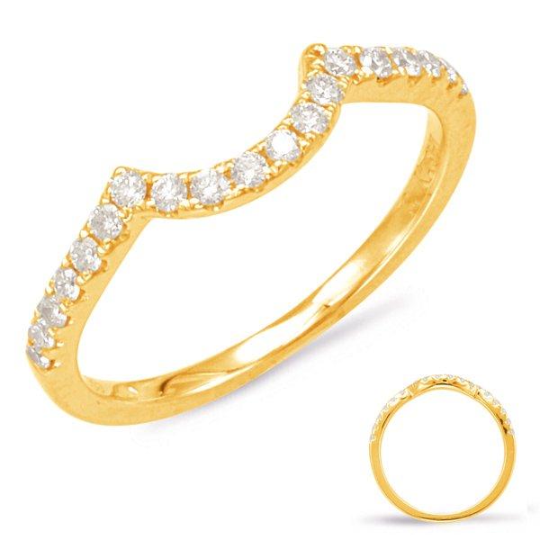 14Y Curved Diamond Wedding Band .13tw