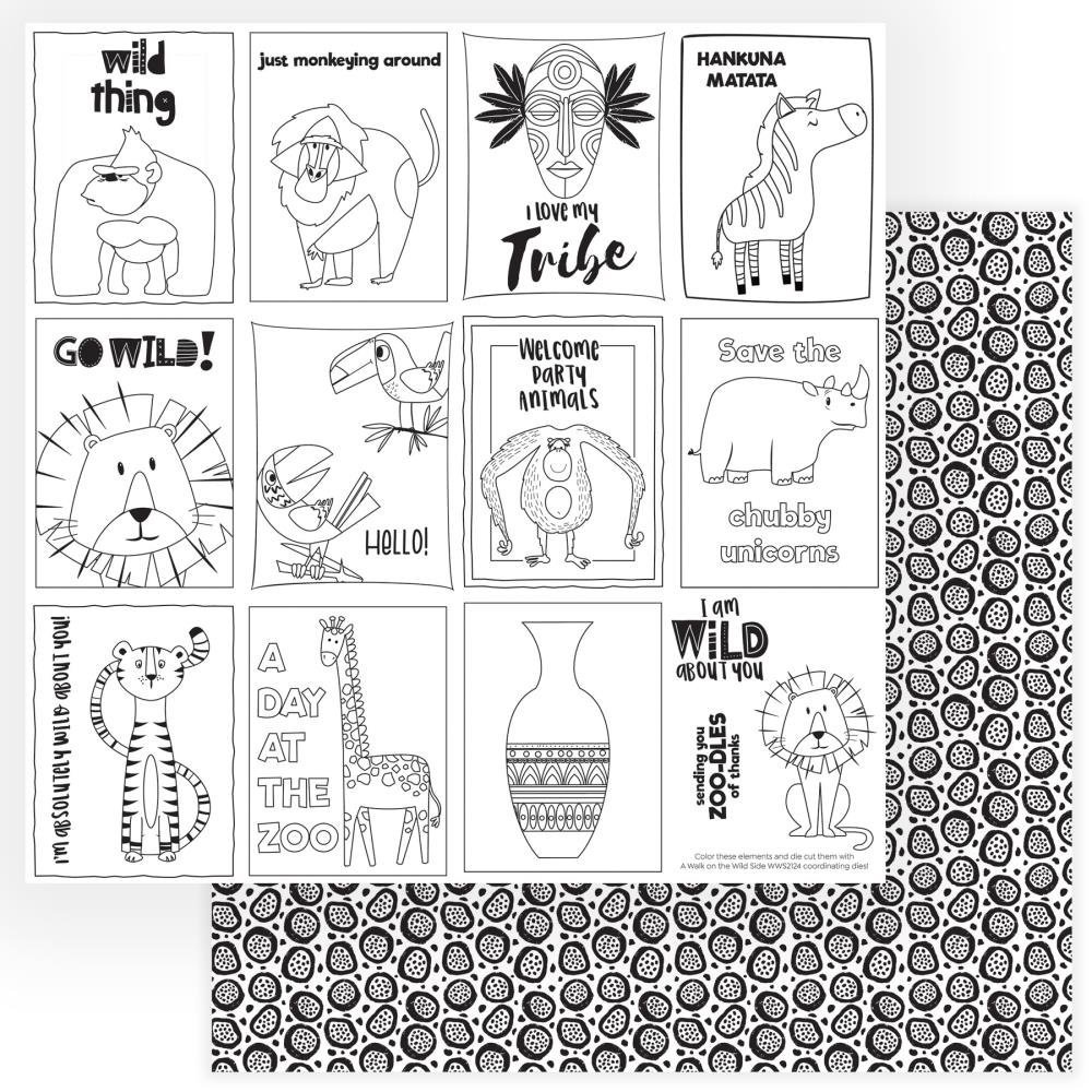 A Walk On The Wild Side Double-Sided Cardstock 12X12-Color Me