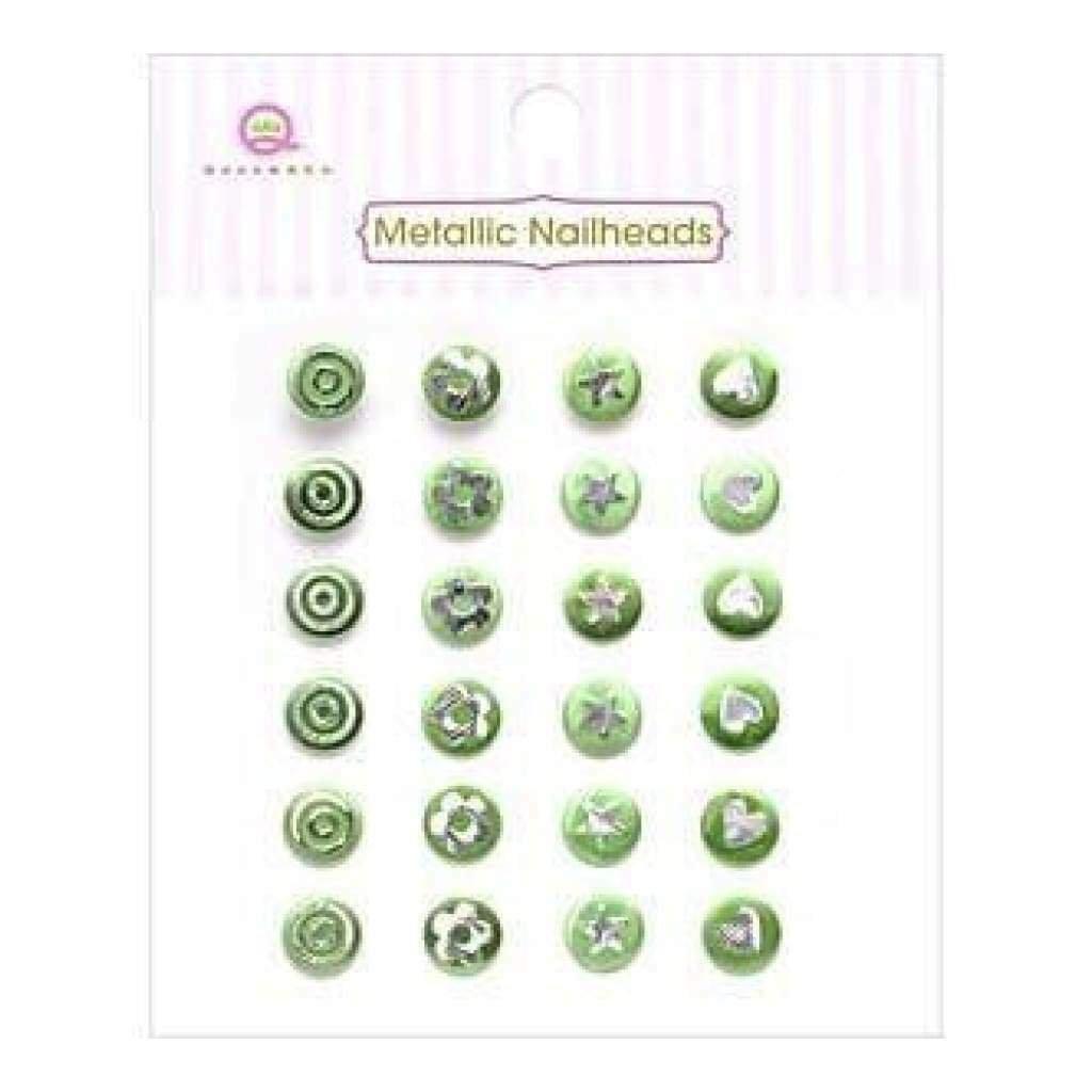 Metallic Nailheads Green