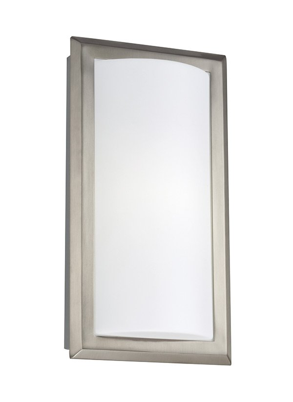 ONE LIGHT WALL / BATH SCONCEBRUSHED NICKEL FINISH ACRYLIC - SATIN WHITE