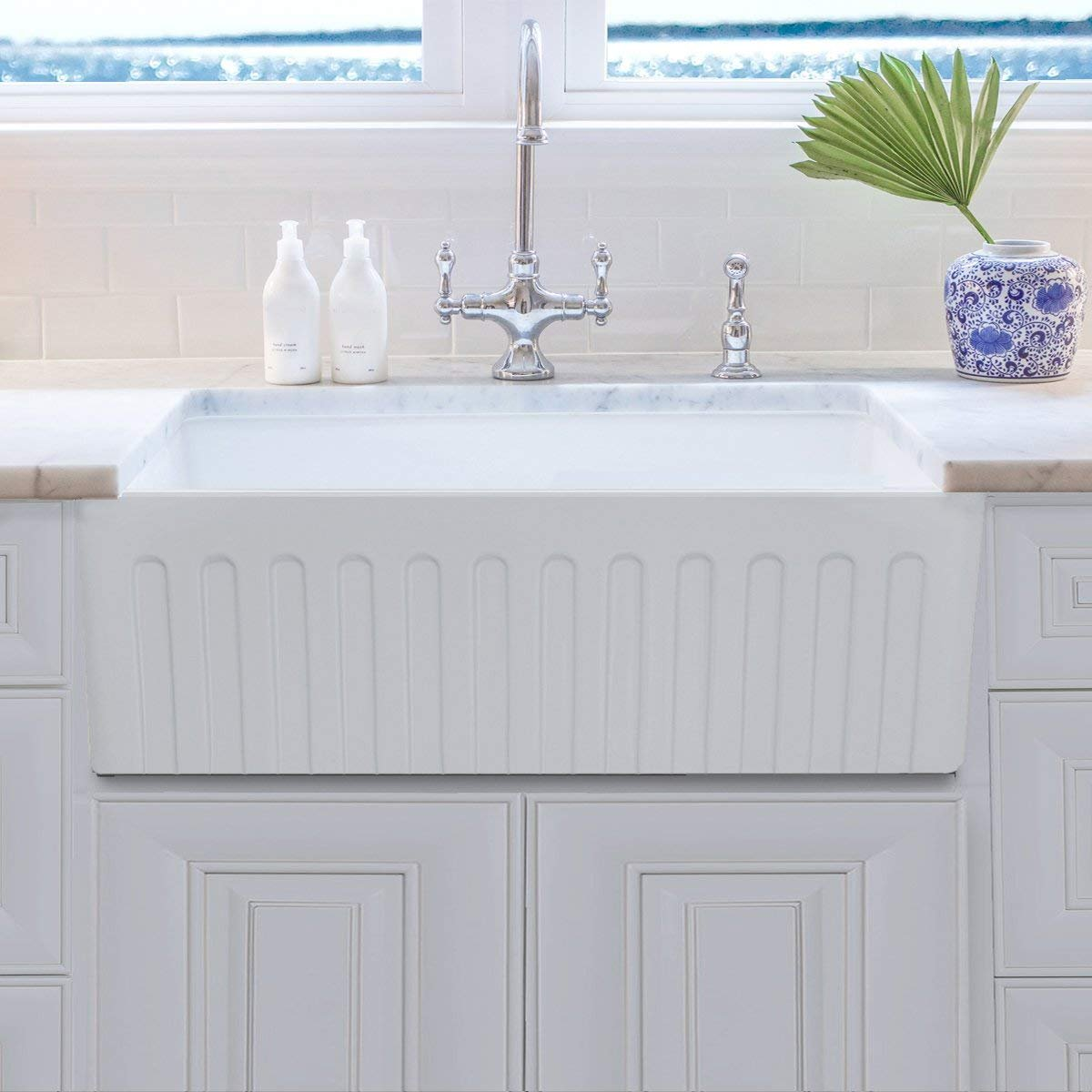 30 Inch Reversible Fireclay Farmhouse Sink