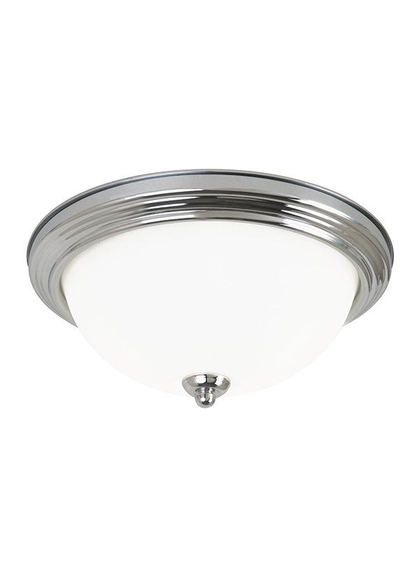 MEDIUM LED CEILING FLUSH MOUNT BRUSHED NICKEL FINISH