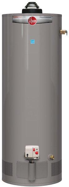 RHEEM PRO+G55-50N RH59 Professional Classic Plus 55 Gallon Tall 50,000 BTU Natural Gas Residential Water Heater