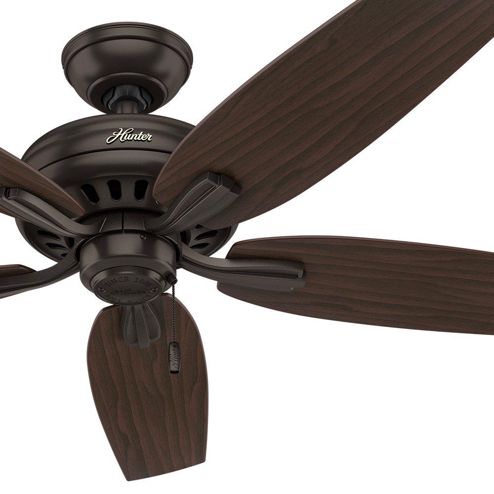 Hunter Fan 52 Ceiling Fan in Premier Bronze with 5 Roasted Walnut Fan Blades