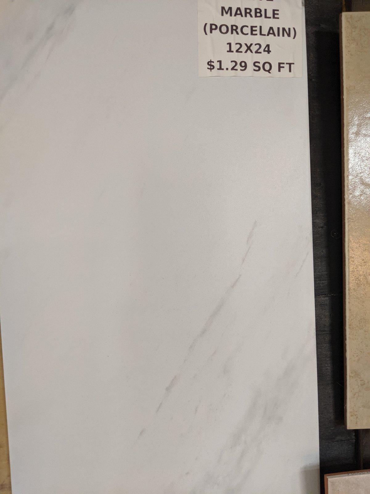 WHITE MARBLE (PORCELAIN)