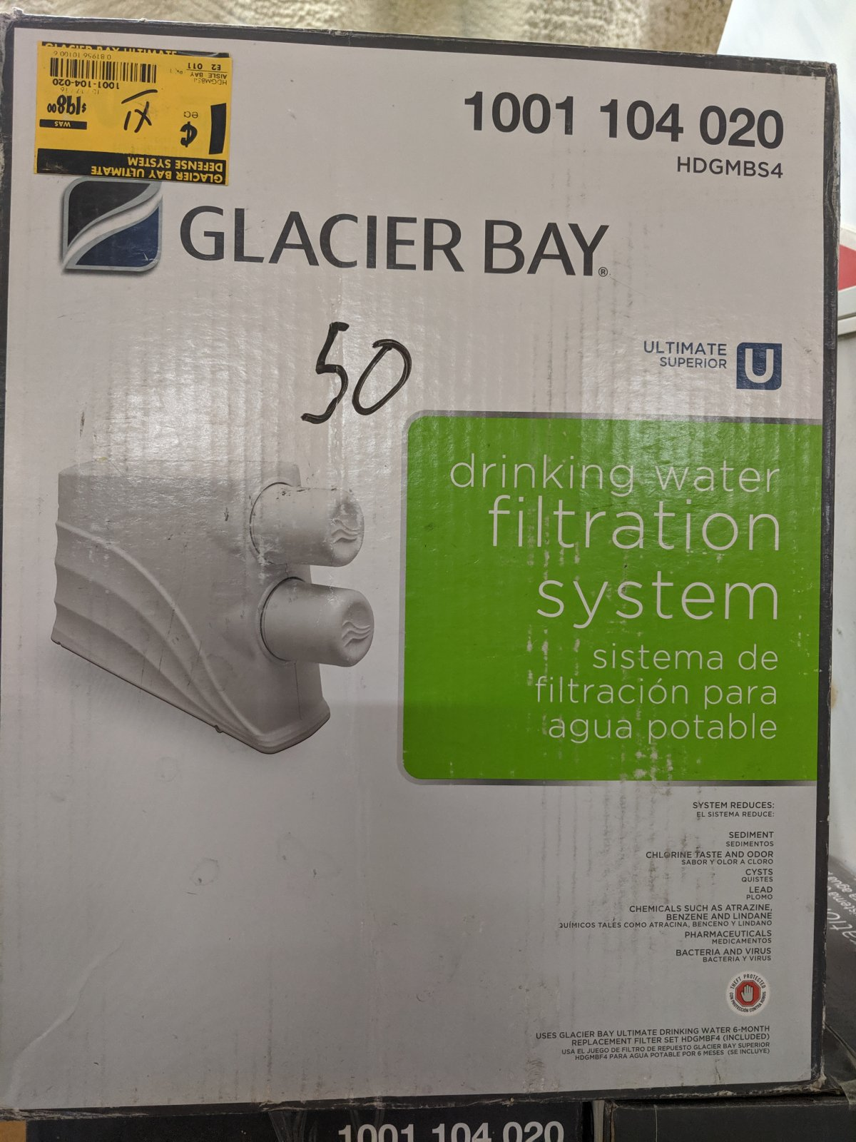 Glacier Bay Drinking water Filtration System