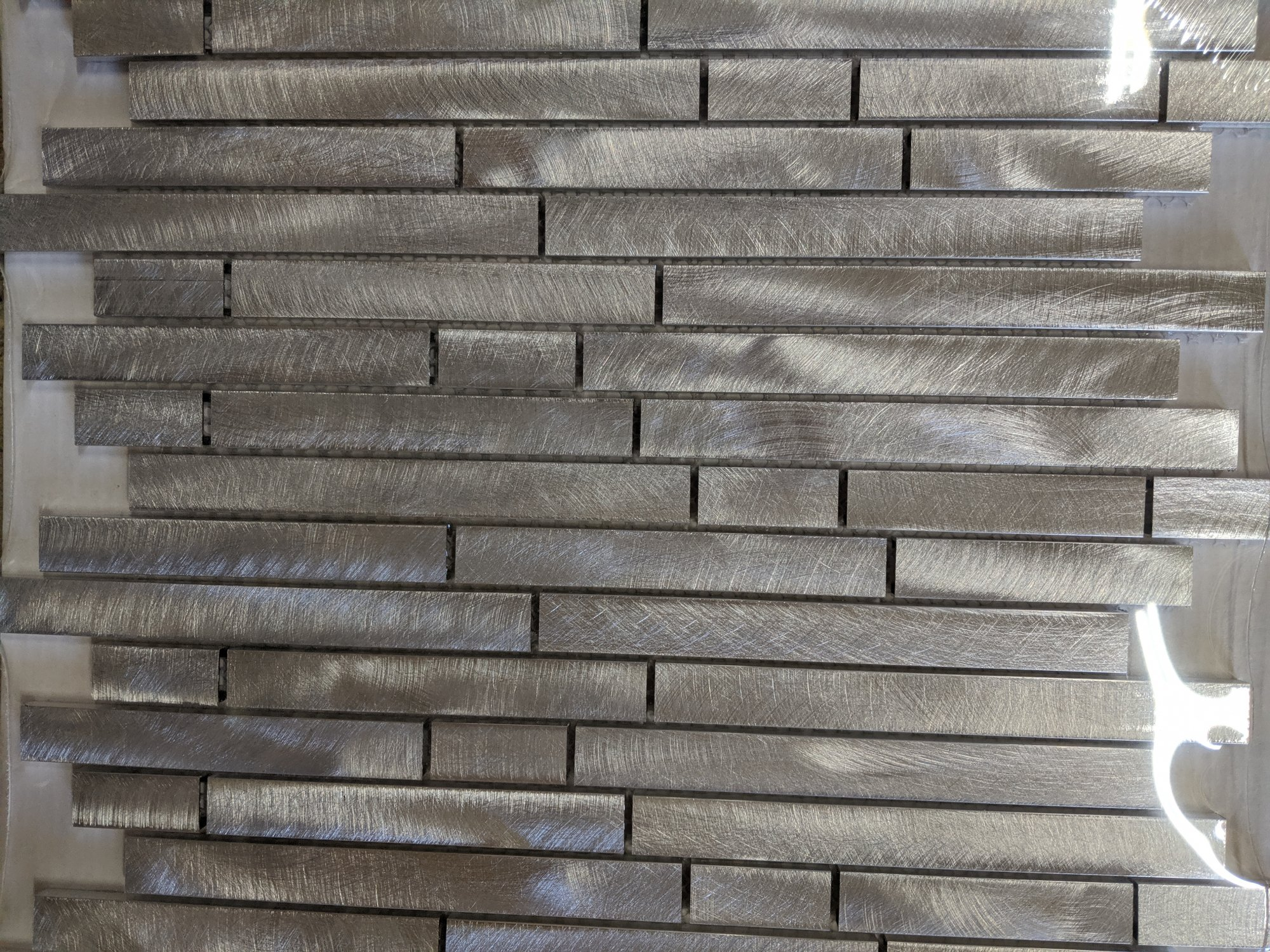 BRUSHED STAINLESS MOSAIC