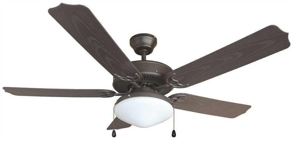 Bala Outdoor 5 Blade 52 Dual Mount Oil Rubbed Bronze Ceiling Fan Light