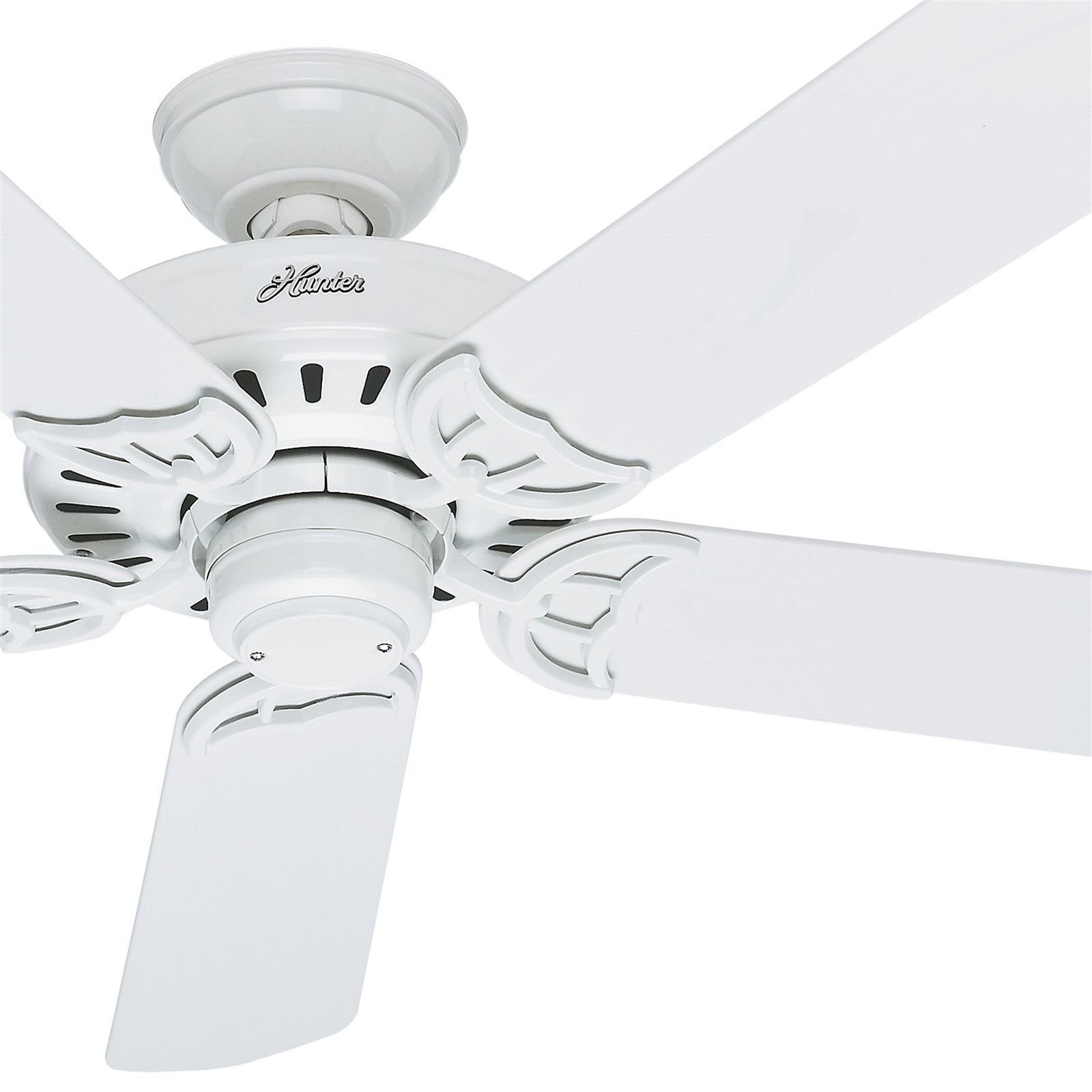 Hunter Fan 52 Damp Rated Outdoor Ceiling Fan in White, 5 Blade