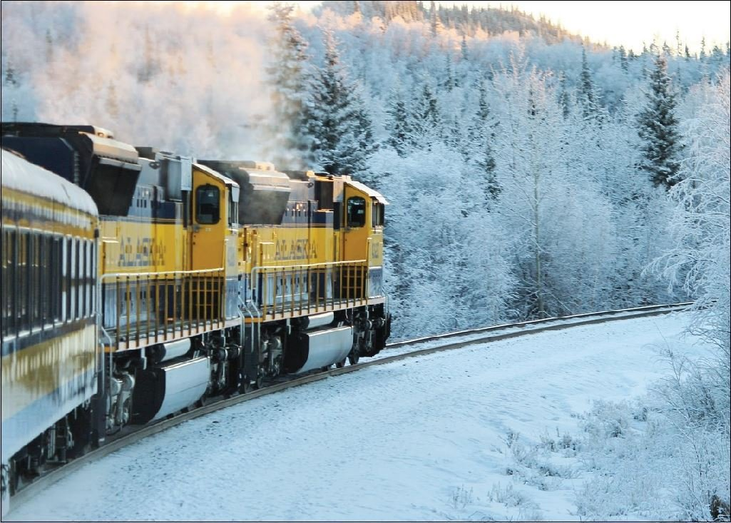 Alaska Train Greeting Card