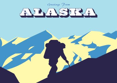 Alaska Hiker Greeting Card
