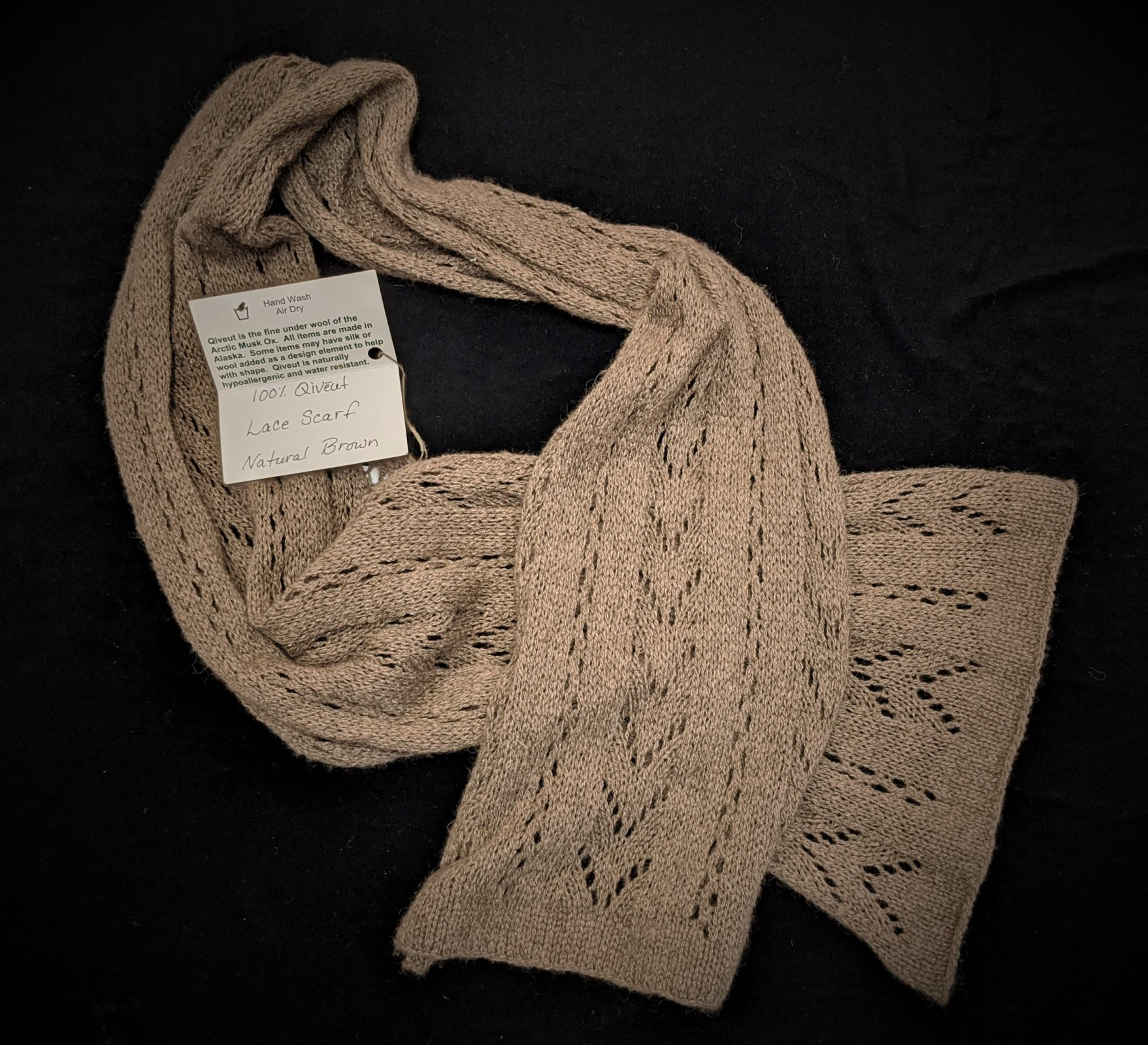 Qiveut Lace Scarf - Natural Brown