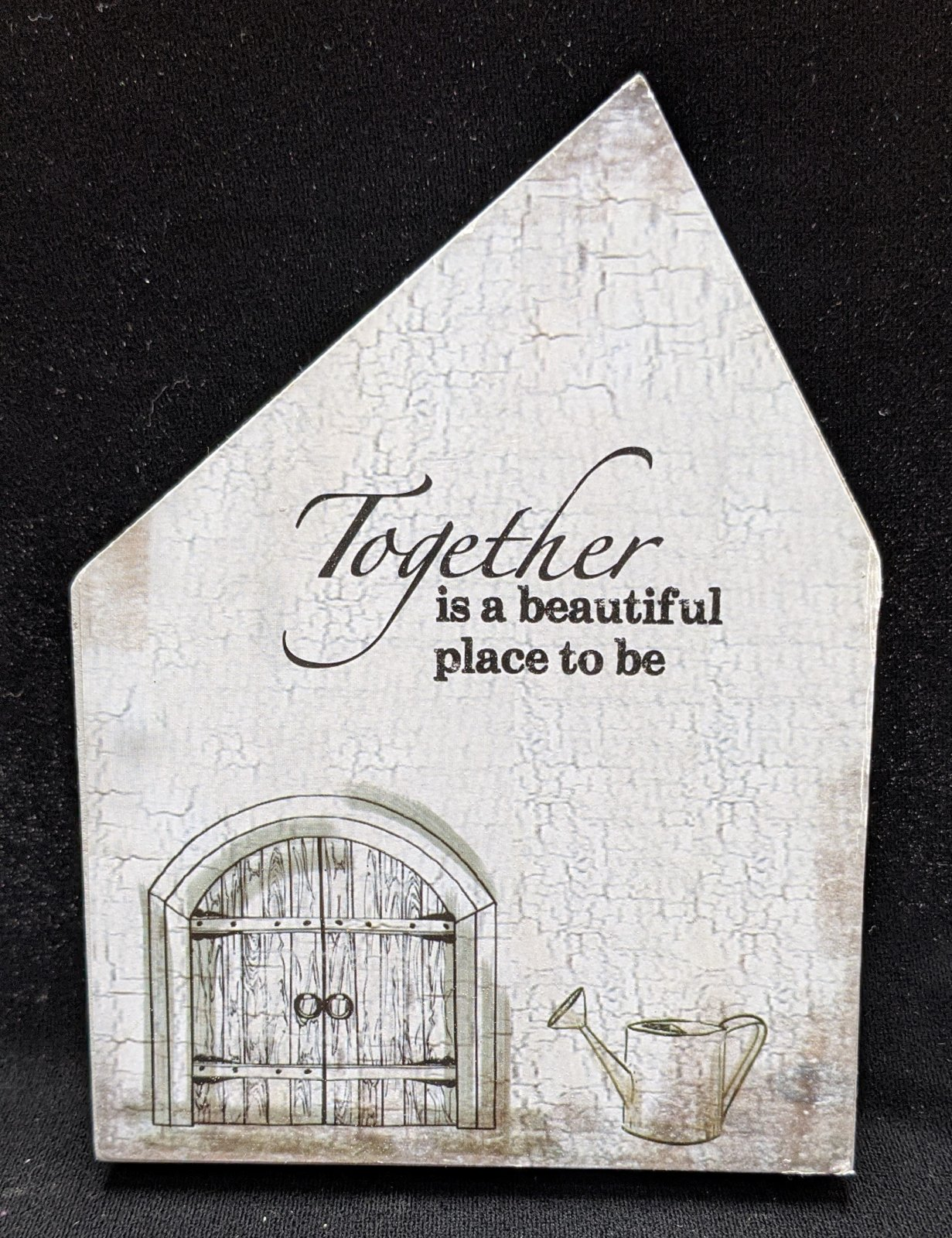 Together is a beautiful place to be wooden sign