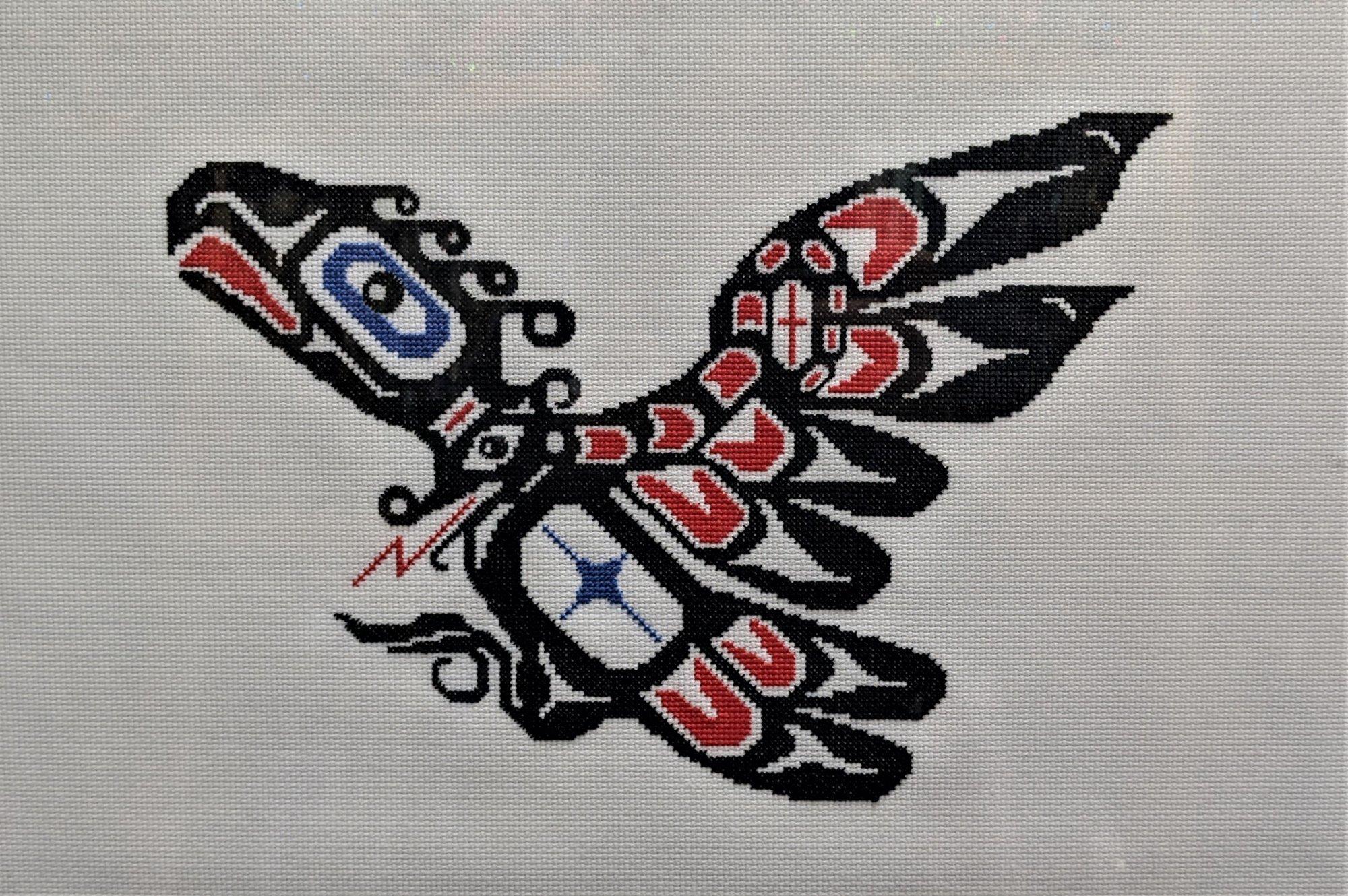 West Coast Thunderbird Cross-Stitch