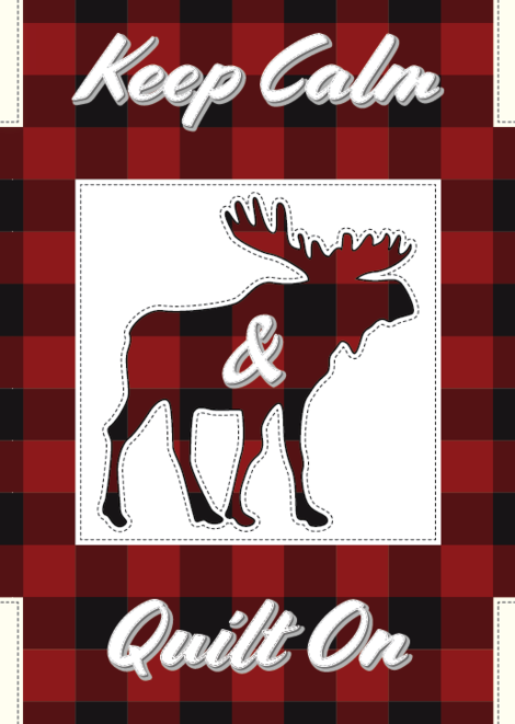 Keep Calm & Quilt On - Moose Greeting Card
