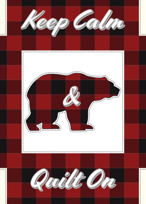 Keep Calm & Quilt On - Bear Greeting Card