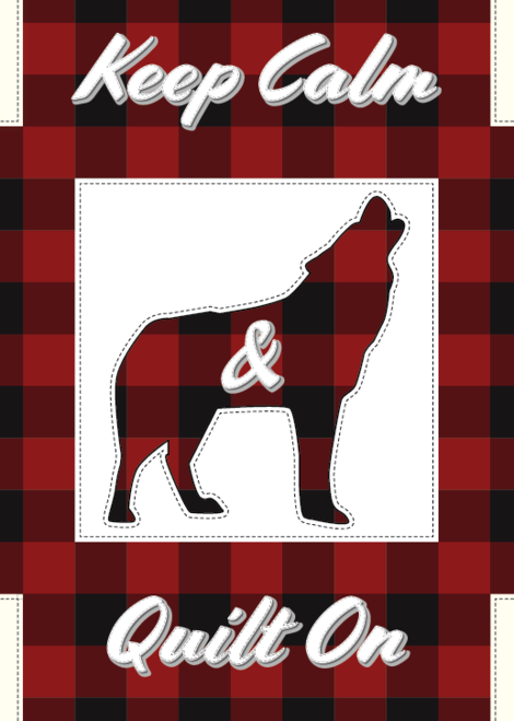 Keep Calm & Quilt On - Wolf Greeting Card