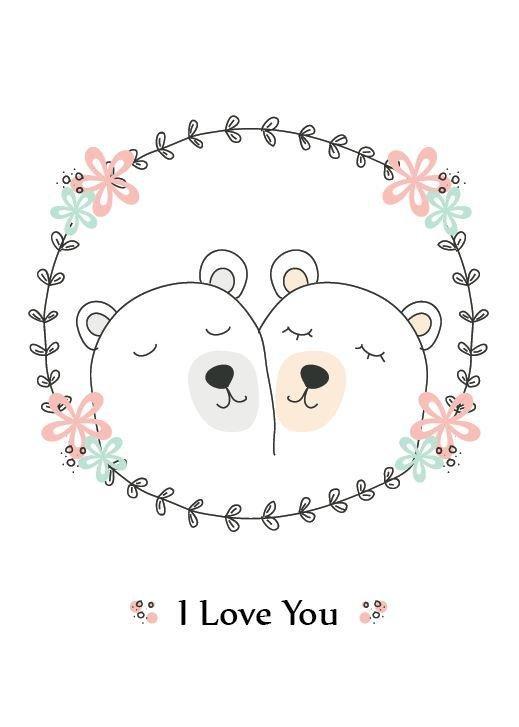Polar Bear Wreath Greeting Card