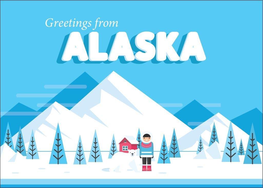 Retro Greetings from Alaska Greeting Card