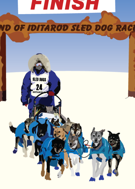 Sled Dogs Greeting Card