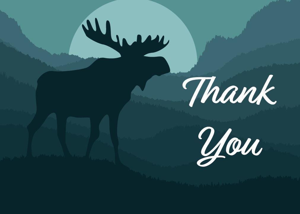 Thank You Moose Greeting Card