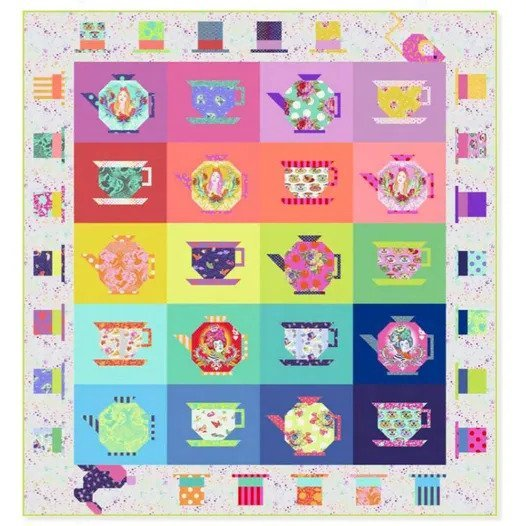 ***Pre-Order***  Ships April 2021 - Mad Hatter Tea Party Quilt Kit by Tula Pink