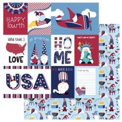 Gnome For July 4th Double-Sided Cardstock 12X12-All American