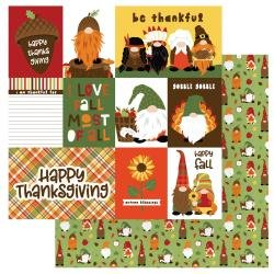 Gnome For Thanksgiving Double-Sided Cardstock 12X12-Gobble Gobble