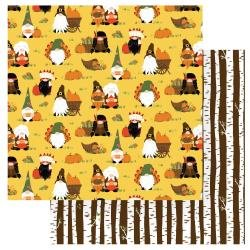 Gnome For Thanksgiving Double-Sided Cardstock 12X12-Gather