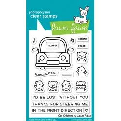 Lawn Fawn Clear Stamps 3X4-Car Critters