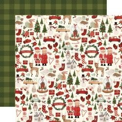 Hello Christmas Double-Sided Cardstock 12X12 Merry Christmas