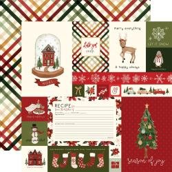 Hello Christmas Double-Sided Cardstock 12X12 Journaling Cards