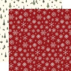 Hello Christmas Double-Sided Cardstock 12X12 Snowflakes