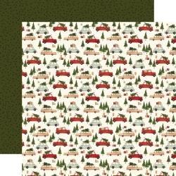 Hello Christmas Double-Sided Cardstock 12X12 Christmas Cars
