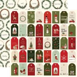 Hello Christmas Double-Sided Cardstock 12X12 Holiday Tags