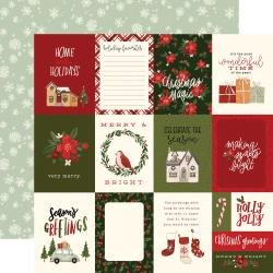 Hello Christmas Double-Sided Cardstock 12X12 3X4 Journaling Cards