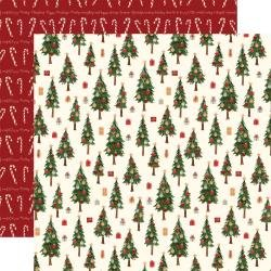 Hello Christmas Double-Sided Cardstock 12X12 Merry Trees