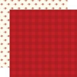 Hello Christmas Double-Sided Cardstock 12X12 Red Plaid