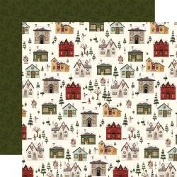 Hello Christmas Double-Sided Cardstock 12X12 Christmas Village