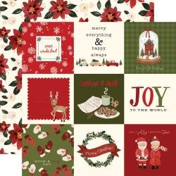 Hello Christmas Double-Sided Cardstock 12X12 4X4 Journaling Cards