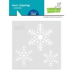 Lawn Clippings Stencils Snowflake Trio