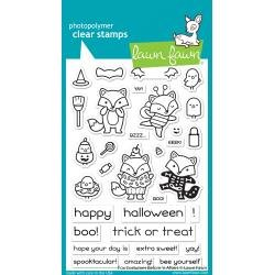 Lawn Fawn Clear Stamps 4X6 Fox Costumes Before 'n Afters