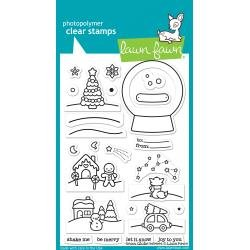 Lawn Fawn Clear Stamps 4X6 Snow Globe Scenes
