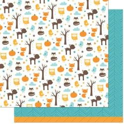Lawn Fawn Into The Woods Double-Sided Cardstock 12X12 Maple Remix