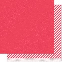 Lawn Fawn Let It Shine Double-Sided Cardstock 12X12 Red Sprinkle 'n Shine