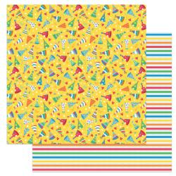 Norbert's Birthday Double-Sided Cardstock 12X12-Party Hats