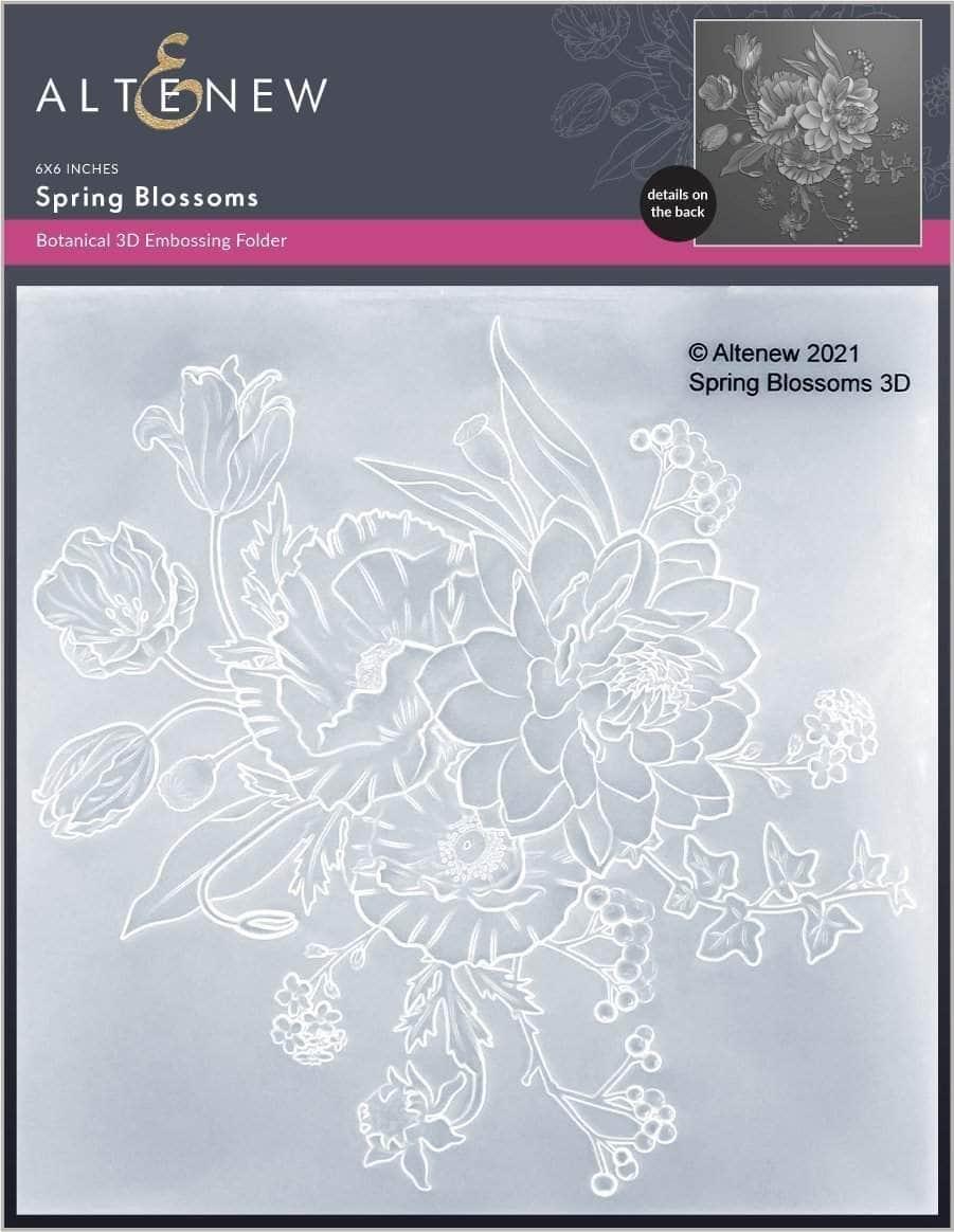Spring Blossoms 3D Embossing Folder