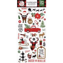 A Lumberjack Christmas Chipboard 6X13-Accents